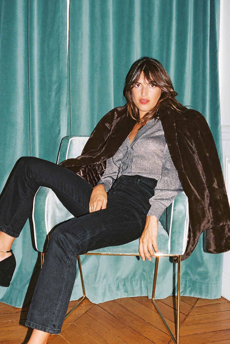 FELIX coat in fake fur
