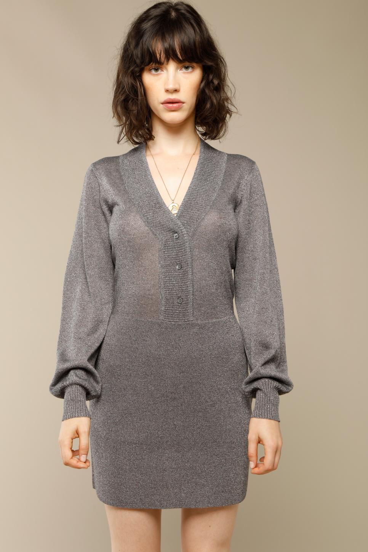 ALMA dress in grey lurex