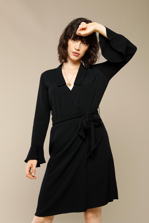 Robe BROOKE en crèpe noir