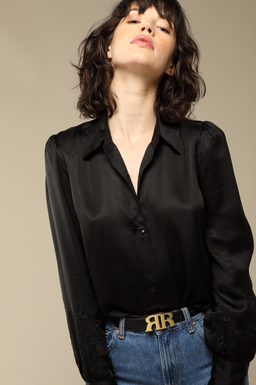 CHLOE shirt in black satin
