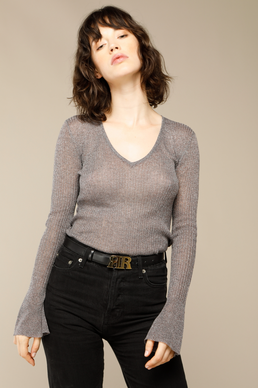 FRANCOISE knit in grey lurex