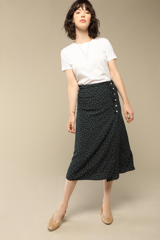 GLORIA skirt with green dots print