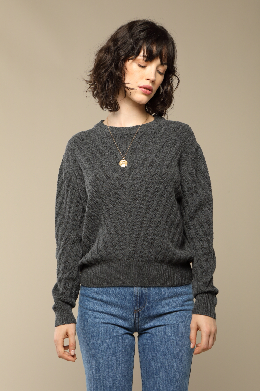 JOY pullover in grey wool