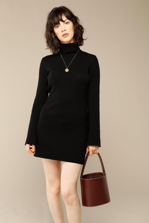 Robe SOPHIE en laine noir